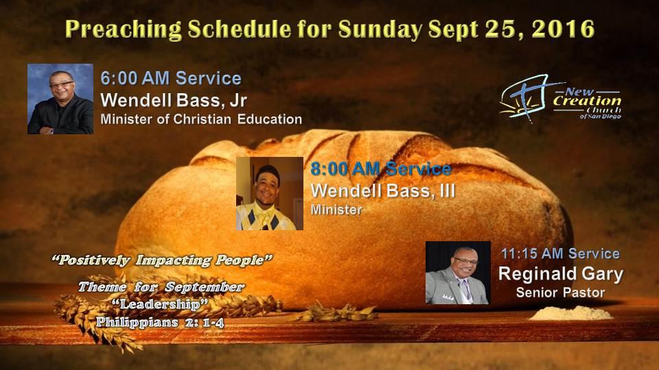 Sunday Sept 25